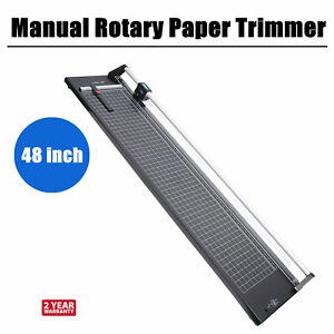48 Inch 1300mm Manual Rotary Paper Cutter Trimmer Photo Paper Film Sharp Cutter