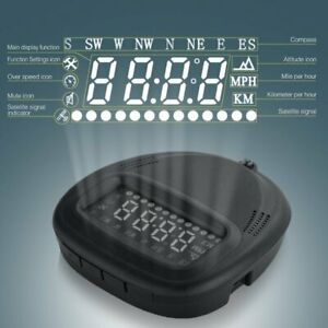 Universal Car Gps Hud A1 Head Up Display Speedometer Kmh Mph Speed Warning Usa