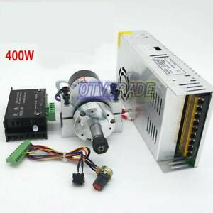 400w Er11 Brushless Spindle Clamp Base Ws55 180 Bldc Motor Driver Controller