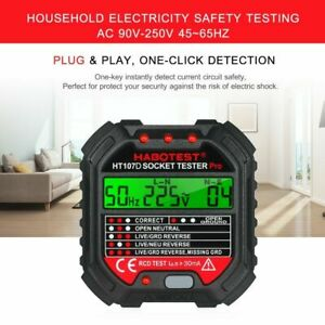 Advanced Electric Outlet Tester Power Socket Circuit Polarity Voltage Detector