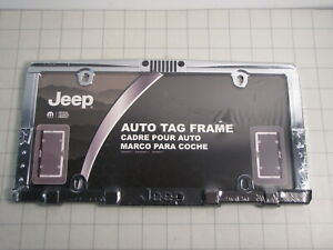 Chroma 42517 Grill Bumper Style License Plate Auto Tag Frame For Jeep New