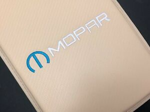 Mopar Carbon Fiber Car Center Console Beige Armrest Cushion Mat Pad Cover