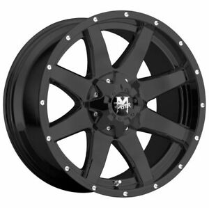 Off road Monster M08 18x9 5x5 5x5 5 0 Flat Black Wheels 4 78 1 18 Inch Rims