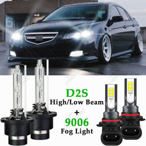 For Acura Tl 2004 2005 2006 Front Hid Headlight High Low Beam Fog Light 4 Bulbs