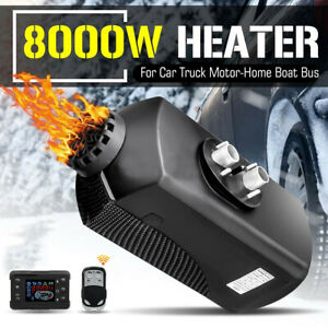 8kw Air Diesel Heater For Car Truck Boat Rv With Lcd Remote Control Silencer