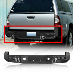 For Toyota Tacoma 2005 2015 Heavy Duty Steel Rear Bumper With Led Light D ring