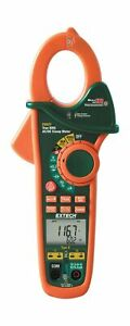 Extech Ex623 Clamp Meter Dual Type K Infrared Thermometer True Rms 400a Ac Dc