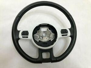 Vw Beetle Leather Steering Wheel 2012 2013 2014 2015 2016 2017 2018 2019 W white