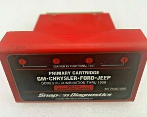 Snap On Mt2500 And Mtg2500 Scanner 1999 Us Domestic Primary Cartridge Tested