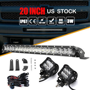 For Chevy Silverado 1500 2500 3500 Hd Front Bumper Grille Led Light Bar Pods Kit