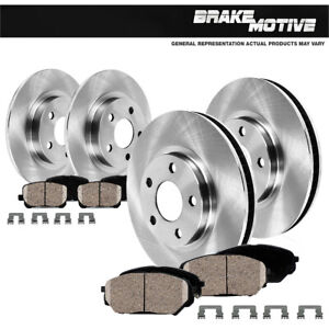 Front Rear Brake Disc Rotors Ceramic Pads For 1995 1996 1997 Toyota Avalon