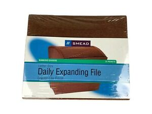 Smead Expanding File Daily 31 Pockets Letter Size Numbered Dividers Cj3