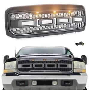 Grille For Ford F250 Super Duty 1999 2004 Excursion 2000 2004 Black Raptor Style