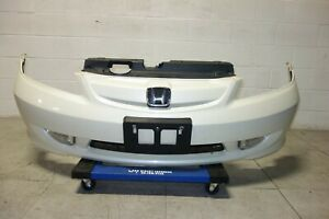 Jdm Honda Civic Japan Style Front Bumper Clear Fog Lights White 2004 2005