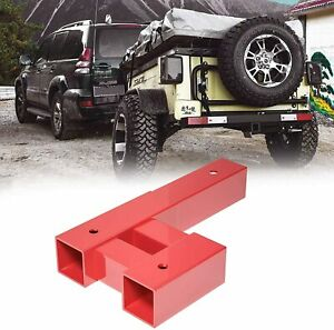 8000 Lb Dual 2 Trailer Hitch Receiver Rise drop Adapter Extender Extension Tow