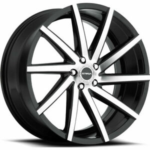 Strada S41 Sega 22x9 5x120 35 Black Machine Wheels 4 72 6 22 Inch Rims