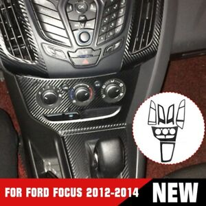 For Ford Focus 2012 2014 Carbon Fiber Color Air Condition Panel Control Cover