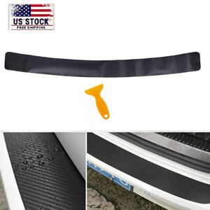 40 Auto Rear Bumper Trunk Tail Lip Carbon Fiber Protection Stickers Decal Cover