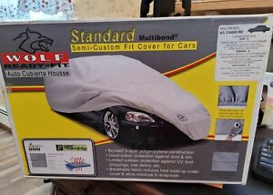 Wolf Evolution 3 Fabric Car Cover Grey Ready Fit Size E