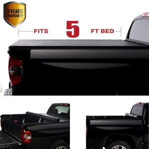 Soft Roll Up Tonneau Cover Black For Toyota Tacoma 2016 2021 Fleetside Bed 5