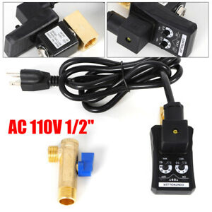 110v 1 2 Electronic Timed Air Compressor Tank Auto Drain Valve Ip65 Protection