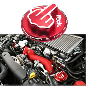 Red F K Middle Finger Engine Oil Filter Tank Cap Cover Aluminum For Toyota