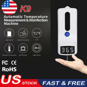 Wall mounted Non contact Digital Thermometer With 2 in 1 1000ml Soap Dispenser