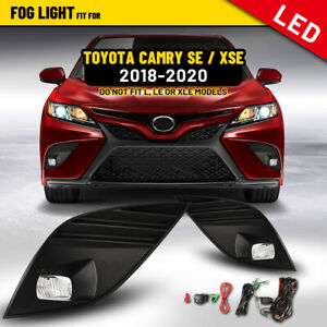 Led Fog Lights For 18 20 Toyota Camry Se Xse Driving Lamps Wiring Kit 1 Pair