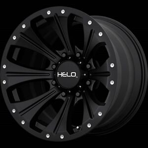 17 Inch Satin Black Wheels Rims Chevy 2500 3500 Hummer H2 8 Lug Helo He901 17x9