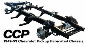 New 1947 1953 Chevrolet Chevy Pickup Custom Fabricated Rolling Chassis