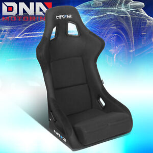 Nrg L Size Carbon Fiber Back Suede Cover Fixed Position Racing Seat Rsc 302cf bk