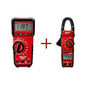 Milwaukee Digital Clamp Meter Heavy Duty True Rms 400 Amp 600 Volts 221620 New