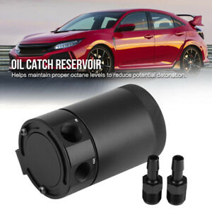 Universal Oil Catch Can Reservoir Tank Baffled Engine Air Oil Separator Aluminum