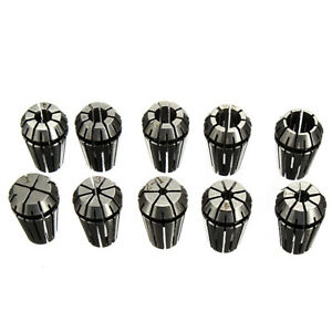 Er16 10pcs Spring Collet Set For Cnc Milling Lathe Tool