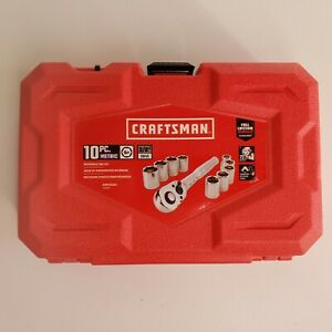 New Craftsman 3 8 Drive 10 Pc Metric 6 Point Socket Set In Case Cmmt34554