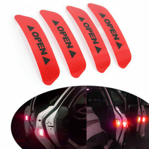 Universal Auto Car Door Open Sticker Reflective Tape Safety Warning Decal Film