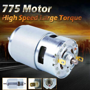 775 Dc 24v 7000rpm Motor Ball Bearing Large Torque High Power Low Noise S2x3