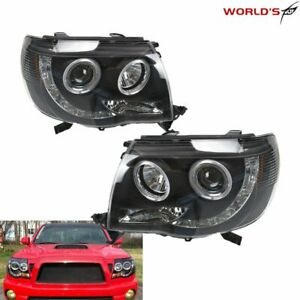 Projector Headlights For Toyota Tacoma 2005 2011 Pre Runner X Runner Halogen Led
