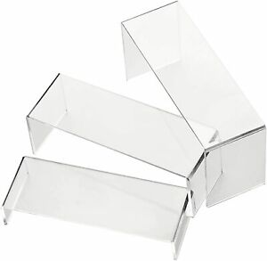 6 Pack Clear Acrylic Display Risers Shoe Risers Retail Stand Cupcake And Clear