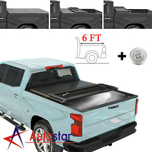 Lock Hard Tri Fold Tonneau Cover For 2019 2020 Ford Ranger 6ft Truck Bed