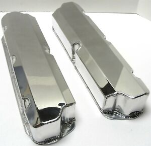 Polished Ford 289 302 351w Fabricated Valve Covers No Hole Short Bolt Sbf