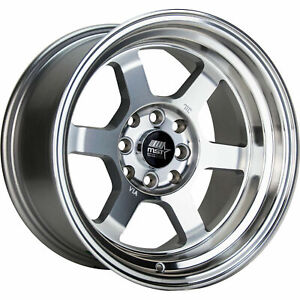 Mst Time Attack 16x8 4x100 20 Silver Machined Wheels 4 73 1 16 Inch Rims