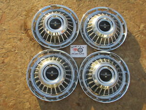 1962 1963 Chevy Corvair Monza 13 Wheel Covers Hubcaps Set Of 4