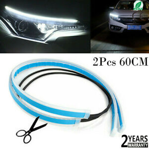 White Flexible Car Led Light Strip Daytime Running Light Waterproof Turn Signal