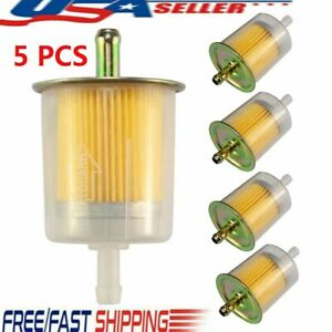 5x 5 16 Clear Plastic Fuel Filters Universal Motorcycle Inline Gas Fuel Line