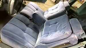 81 87 Buick Regal Coupe G Body Complete Seat Set Front Rear Blue Cloth Oem