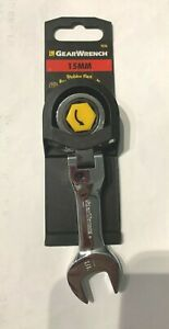 15mm Stubby Flex Ratcheting Combo Wrench 12 Pt 9556 Gearwrench