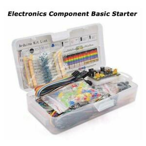 Electronic Component Starter Kit Wires Breadboard Led Resistor Buzzer