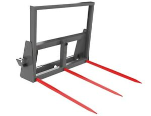 Square Hay Bale Spear Carriage 3 32 4 Tines Skid Steer Attachment Berlon Usa