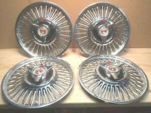 Ford Falcon 13 Wire Wheel Cover With Spinner Set Of 4